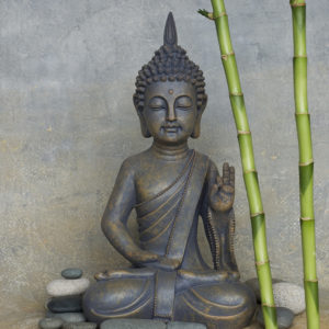 still life with buddha statue
